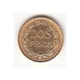 Goldmünze 2 Pesos Mexico