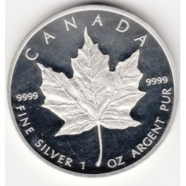 1 Unze 5 CAD Maple Leaf in Tube