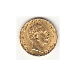 Goldmünze 20 Deutsche Mark Wilhelm II