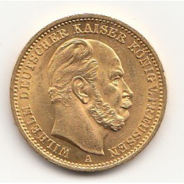 Goldmünze 20 Deutsche Mark Wilhelm I.1883, 1873