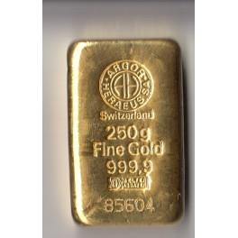 250 gr Goldbarren Heraeus