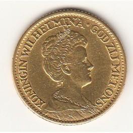 Goldmünze 10 Gulden Königin Wilhelmina
