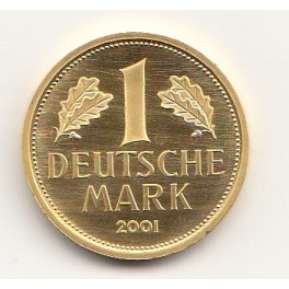 Goldmünze 1 DM Deutsche Mark 2001