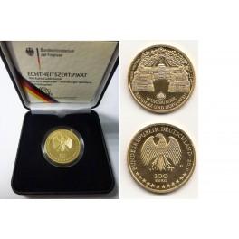 100 Euro Gold  Würzburger Residenz und Hofgarten mit Box und Zertifikat