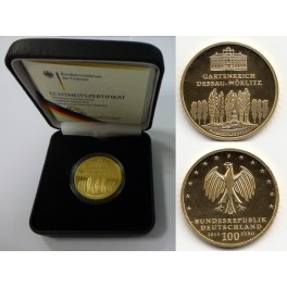 100 Euro Goldmünze Dessau-Wörlitz