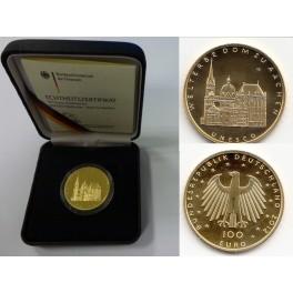 100 Euro Gold Welterbe Dom zu Aachen