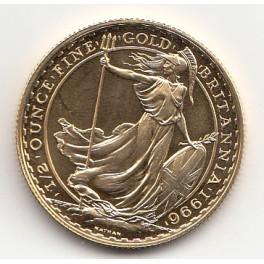 Goldmünze 1/2 Unze 100 GBP Britannia