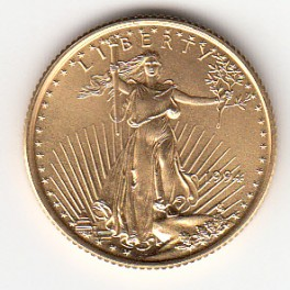 Goldmünze American Eagle 1/4 Unze 10 dollar
