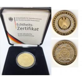 100 Euro Einführung des Euros mit Box u. Zertifikat