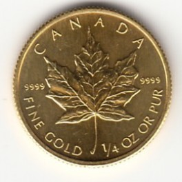 1/4 OZ 10 CAD Maple Leaf
