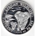 Somali Republic 1 Unze 100 Shilling Elephant