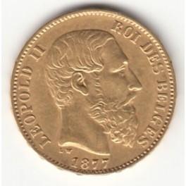 20 Francs Belgien Leopold II