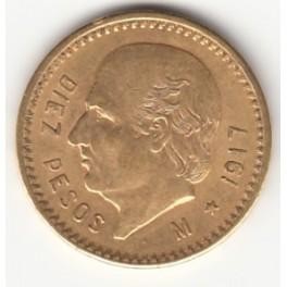 Goldmünze 10 Pesos Mexico