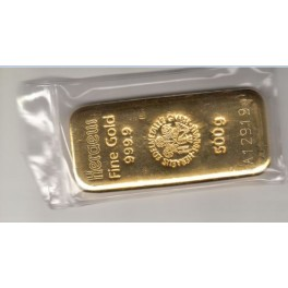 500 Gramm Goldbarren Heraeus