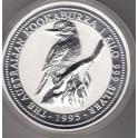 1 Kilo Silbermünze Kookaburra 1995