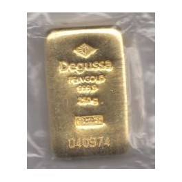 250 gr Goldbarren Heraeus mit Zertifikat eingeschweisst