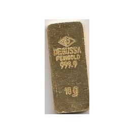 Degussa Sargbarren 10 gramm 999,9