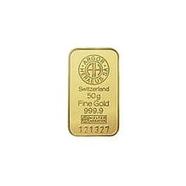 50 gramm Goldbarren  Heraeus