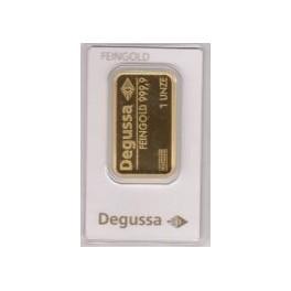 1 Unze Goldbarren Degussa im Blister