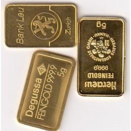 5 gramm Goldbarren Nadir Feingold