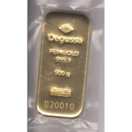 500 Gramm Goldbarren Degussa
