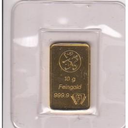 10 gramm Goldbarren aus 2. ter Hand