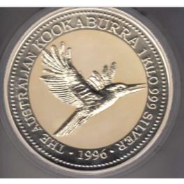 1 Kilo Silbermünze  Kookaburra 1998