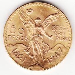 Goldmünze 50 Pesos Mexico
