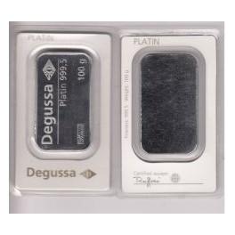 Platinbarren 100 gramm Degussa