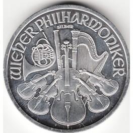 1 Unze Wiener Philharmoniker Silber mit Flecken