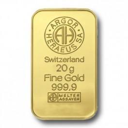20 Gramm Goldbarren Heraeus Barren
