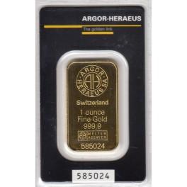 1 Unze Goldbarren Heraeus im Blister