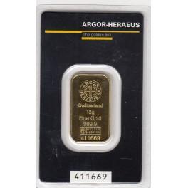 10 Gramm Goldbarren  Heraeus im Blister