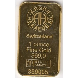 1 Unze Goldbarren Heraeus Resale