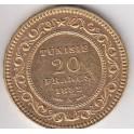 20 Francs Tunisie 1891,1903, 1904 arabische Schrift und lateinische Schrift
